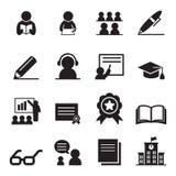 Apprendimento dell'insieme dell'icona Immagini Stock