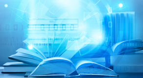 Apprendimento digitale del libro elettronico Fotografia Stock