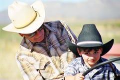 Apprendimento guidare un trattore Fotografia Stock Libera da Diritti