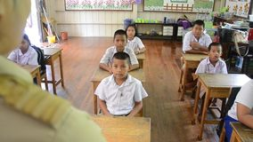 Apprendimento tailandese stock footage