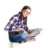 Apprendimento teenager della ragazza Immagini Stock Libere da Diritti
