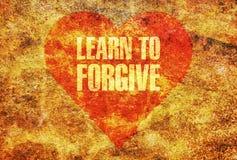 Apprenez à pardonner Image libre de droits