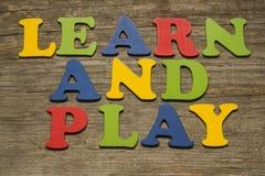 Apprenez et jouez Images stock
