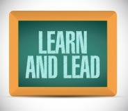 apprenez et menez l'illustration de signe de conseil Image libre de droits