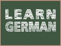 Apprenez l'allemand Photographie stock