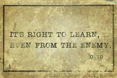 Apprenez l'ennemi Ovid illustration de vecteur