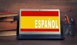 Apprenez le concept espagnol Photos stock