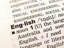 Apprenons l'anglais ! Images libres de droits
