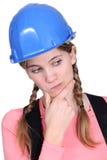 Apprenti féminin perplexe Image libre de droits
