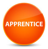 Apprentice elegant orange round button Stock Image