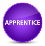 Apprentice elegant purple round button. Apprentice isolated on elegant purple round button abstract illustration Stock Images