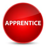 Apprentice elegant red round button. Apprentice isolated on elegant red round button abstract illustration Stock Photo