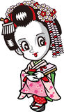 Apprentice geisha Royalty Free Stock Images
