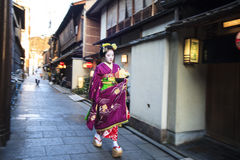 Apprentice geisha in western Japan, especially Kyoto. Their jobs Royalty Free Stock Photos