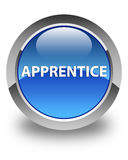 Apprentice glossy blue round button Stock Image