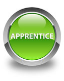 Apprentice glossy green round button Stock Photos