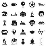 Apprentice icons set, simple style Stock Image