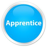 Apprentice premium cyan blue round button. Apprentice isolated on premium cyan blue round button abstract illustration Royalty Free Stock Photos
