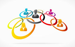 Apprentice network. Abstract concept illustration with apprentice network Stock Image