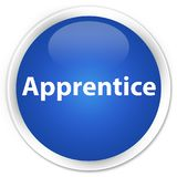 Apprentice premium blue round button. Apprentice isolated on premium blue round button abstract illustration Stock Images