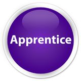 Apprentice premium purple round button. Apprentice isolated on premium purple round button abstract illustration Royalty Free Stock Photos