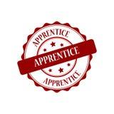 Apprentice stamp illustration. Apprentice red stamp seal stamp illustration Stock Photography