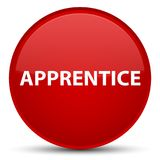 Apprentice special red round button Royalty Free Stock Images