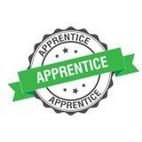 Apprentice stamp illustration. Apprentice stamp seal illustration design Stock Image