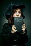 Apprentice witch stock photo