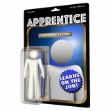 Apprentice Worker Learner Job Skills Education Action Figure 3d. Illustration Stock Photography