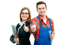 Apprentices for handyman and office Stock Image