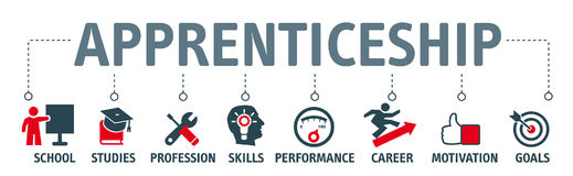 Apprenticeship concept icons Stock Images