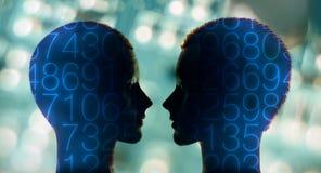 Apprentissage automatique du robot AI Image stock