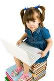 Apprentissage avec l'ordinateur portatif Photos libres de droits