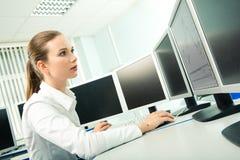Apprentissage d'ordinateur image libre de droits