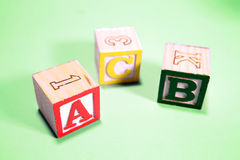 apprentissage de blocs d'ABC Photo stock