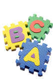 apprentissage de blocs d'ABC Images libres de droits