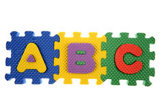 apprentissage de blocs d'ABC Photographie stock