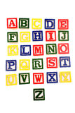 apprentissage de blocs d'alphabet images libres de droits