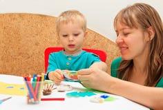 Apprentissage de famille Images libres de droits