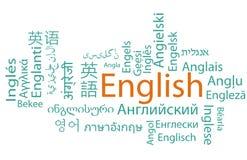 Apprentissage de l'anglais illustration libre de droits