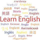 Apprentissage de l'anglais Images stock