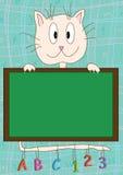 Apprentissage de panneau de chat Photo stock