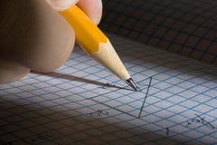 Apprentissage des maths photographie stock