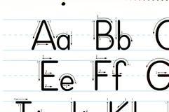 Apprentissage du diagramme de lettres images stock