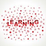 Apprentissage du mot avec dans des alphabets Photographie stock libre de droits