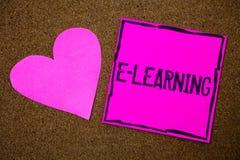 Apprentissage en ligne d'écriture des textes d'écriture L'éducation de signification de concept par les cours de instruction éloi Photos libres de droits