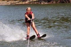 Apprentissage pour skier Images stock