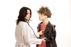 Apprentissage pour être un docteur Photos stock