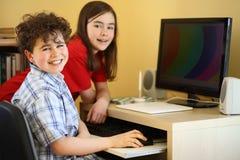 Apprentissage sur internet Photo libre de droits